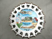 ATLANTIC CITY - Decorative Collector Plate - Landmarks and Features - vintage