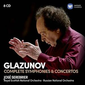 SEREBRIER,JOSE-GLAZUNOV: THE COMPLETE SYMPHONIES & CONCERTOS CD NEW