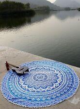 Ombre Hippie Rotonda Tappetino Yoga Spiaggia Tiro Tappeto Indiano Mandala Arazzo