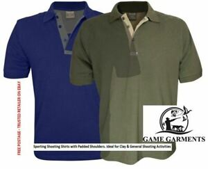 Sporting Polo Shirt with Padded Shoulders for Clay Shooters. Clay Shooting Shirt