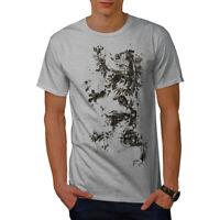 Wellcoda Lion Rampant Flag Mens T-shirt, Scotland Graphic Design Printed Tee