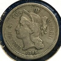 1865 3CN Three Cent Nickel (59317)