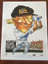 WEG Sir Donald Bradman Cricket World Test Record Score Poster. Signed By WEG