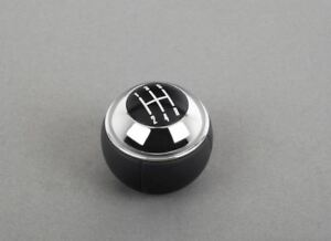Genuine MINI 5 Speed Gear Stick Shift Knob Head Leather + Chrome R50 R52