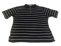 Peter Millar XL Extra Large Blue Striped Short Sleeve Golf Men's Polo Shirt