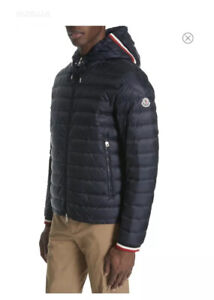 NWT**Moncler**Navy Giroux Hooded Coat**Age 14