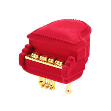 Piano Ring Box Earring Necklace Pendant Jewelry Treasure Gift Case Wedding