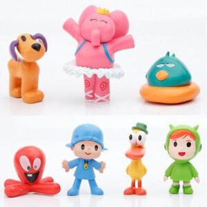 7pcs/set Cartoon Pocoyo Zinkia Doll PVC Action Figures Kids Toy Birthday Gift K1