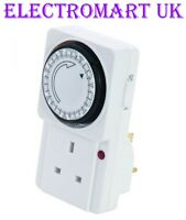13A 13 AMP MAINS PLUG IN 7 DAY TIMER TIME SWITCH