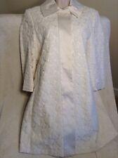 Gorgeous Elie Tahari Cream Woven Coat Size 12