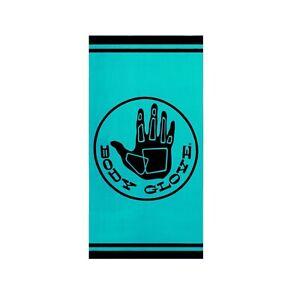 "Body Glove Logo Extra-Large Hand Beach Towel, 70"" x 35"" Teal/Black Hand NEW NWT"