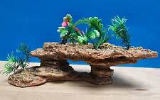 Aqua Spectra Platform Rock With Plants Fish Tank Aquarium Ornament AQ28127