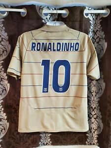Barcelona soccer jersey away Ronaldinho 10 season  2004 size L free shipping