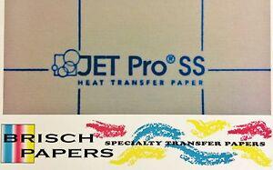 "INKJET TRANSFER FOR WHITE FABRIC: IRON-ON ""JET PRO SOFT STRETCH"" (8.5""X11"") 25CT"