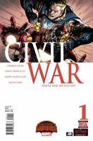 Civil War #1 Secret Wars Warzones Tie in Marvel comic 1st Print 2016 unread NM