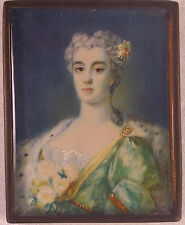 Antique Hand Painted Portrait  of  Beautiful  Lady