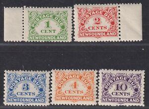 Newfoundland Canada Scott J1-J4 J6 1939-1949 Postage Due Issues SCV $55