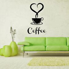 Wandtattoo Wandsticker Wandaufkleber Küche Coffee Cafe Kaffeebohnen Tasse