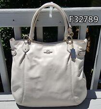 COACH Colette Leather Tote / Shoulder Bag F32789 CHALK