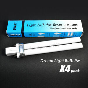 Dream Light Bulb For UV Lamp 9 Watt x 4 Pack *H Shape*