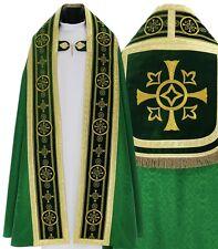 Green Roman cope with stole KT579-AZ25 Capa pluvial Verde Piviale Chape Verte