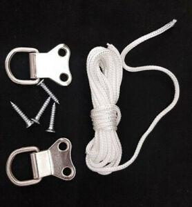 Picture Hanging Kit Screws String & D Hooks
