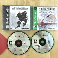 Lot of 3 Final Fantasy Playstation 1 PS1 Games VII Origins Anthology Tested