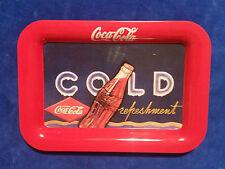 """Coca Cola Tin Change Tray 6 1/2"""" x 4 3/4"""" - Cold Refreshments - COKE"""