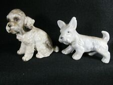 2 Vintage dog figurines Cocker Spaniel and Scottish terrier