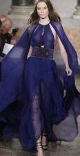 PUCCI BLUE SILK CHIFFON CATWALK DRESS SIZE UK 10