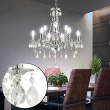 Kronleuchter Kristall Behang Wohn Ess Zimmer Decken Hänge Leuchte Lüster Lampe