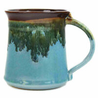 Clay In Motion Handmade Ceramic Medium Mug Coffee Cup 16 oz - Ocean Tide