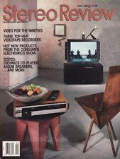 Stereo Review Magazine Apr 1990Counterpoint SA-3000,Technics SL-P370, Axiom AX2