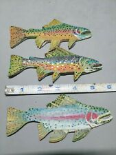 Trout Carving Magnets, New For 2020 for sale per 3, Great Little gifts!