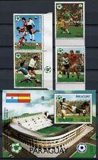 PARAGUAY 1981 Fußball WM 1982 Soccer FIFA 3432-3434 + Block 367 ** MNH