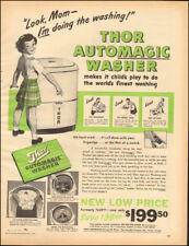 1949 Vintage ad  Thor automagic Washer Art Little Girl Green appliance  (030118)