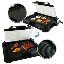 Megachef Non-Stick Reversible Indoor Grill and Griddle with Removable Glass Lid