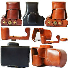 Leather Camera Case Bag Cover For FujiFilm Fuji X-T10 XT10 18-55mm/16-50mm Lens
