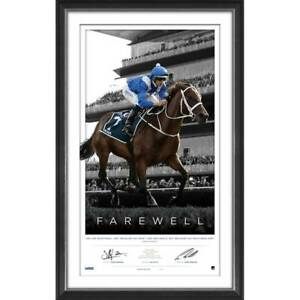 Winx Signed Farewell L/E Official Retirement Print Framed Bowman & Waller + COA