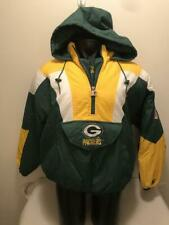 Vintage Green Bay Packers Starter Hooded Pullover Jacket Mens XL