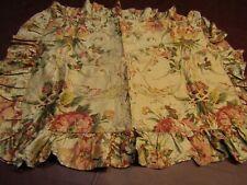 Ralph Lauren Guenivere Floral Sateen Ruffled Standard Size Pillow Sham Pair RARE