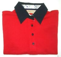 THOMAS COOK WOMENS SIZE 10 LONG SLEEVE RED POLO SHIRT FREE POSTAGE