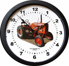 """New Vintage 1953 Allis Chalmers Model B Tractor Wall Clock Massive 14"""" 3/4 View"""