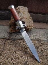 Couteau Tac Force Italian Stiletto Milano A/O Lame Acier Inox Manche Bois M957