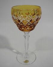 Josephinenhütte Römer Glas Weinkelch Überfangglas Bernstein gelb Bleikristall
