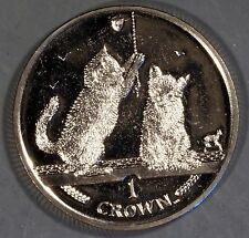 "Isle of Man 2001 ""2 Kittens"" 1 Crown Coin"