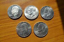 LOTTO 5 MONETE STATI UNITI 1 DOLLARO DOLLAR 1971 1974 ARGENTO 400 SUBALPINA Z