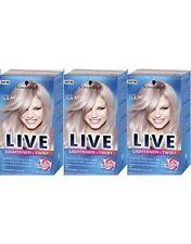Schwarzkopf Live Lightener And Twist 104 Cool Lilac Long Last Hair Colour Dye x3