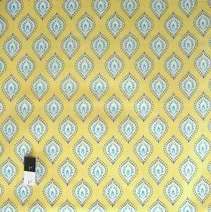 Dena Designs PWDF172 Little Azalea Bird Of Paradise Aqua Cotton Fabric By Yard