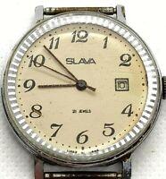 Watch Slava 21 Jewels Soviet Ussr S Russian Mechanical Mens Rare Vintage Old